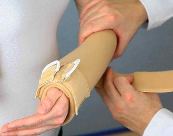 Ferula para brazo soporte extra